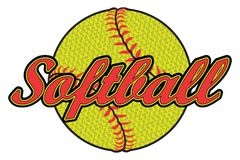 Softball Design With Textured Ball Royalty Free Stock Photography