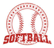 Softball Design - Vintage Royalty Free Stock Photos