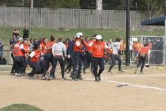 Softball do NCAA das mulheres Fotos de Stock Royalty Free
