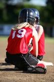 softball dwóch graczy Obraz Royalty Free