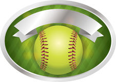 Softball Emblem Banner Illustration Royalty Free Stock Photos