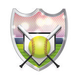Softball Emblem Illustration royalty free illustration