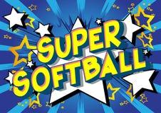 Softball estupendo - palabras del estilo del cómic stock de ilustración