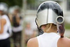 softball för flicka s Arkivfoto
