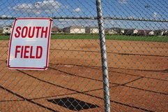 Softball field Royalty Free Stock Photo