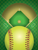 Softball Field and Ball Background Illustration Stock Photography