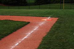 Softball Field Double First Base Royalty Free Stock Photo