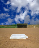 Softball field illustration Royalty Free Stock Photography