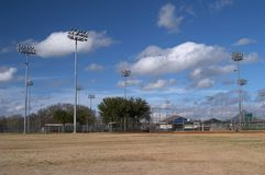 Softball fields royalty free stock photography