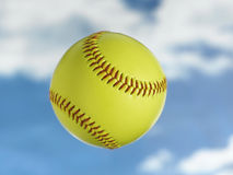 Softball. Flying thru the sky Stock Photo