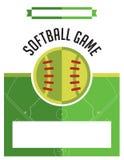 Softball Game Flyer Illustration Stock Image