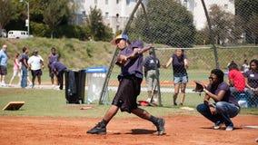 Softball game stock photography