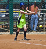 Softball Girl at Bat Stock Images