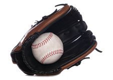 Softball glove and ball Royalty Free Stock Photo