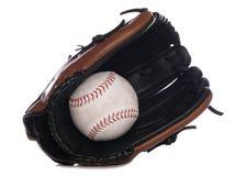 Softball glove and ball royalty free stock photo