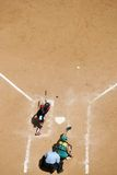 Softball home plate Royalty Free Stock Photo