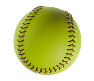 Softball isolated on white. Royalty Free Stock Photo