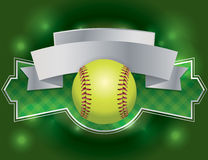 Softball Label and Banner Illustration Royalty Free Stock Image