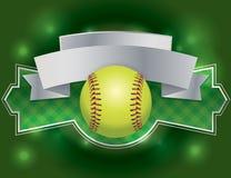 Softball Label and Banner Illustration vector illustration