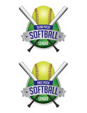 Softball League Emblems Royalty Free Stock Photo