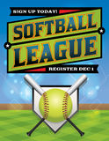 Softball League Registration Illustration Stock Photo