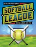 Softball League Registration Illustration Stock Photo