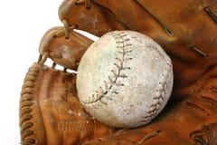 Softball and mitt Royalty Free Stock Photos