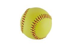 Softball na jasnym białym tle fotografia royalty free