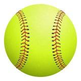 Softball op wit wordt geïsoleerd dat Vector illustratie Stock Foto