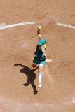 Softball overhead 02 Stock Photo