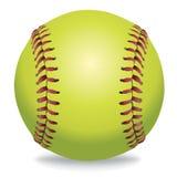 Softball på den vita illustrationen stock illustrationer