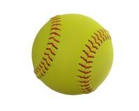 Softball på klar vit bakgrund Arkivfoton