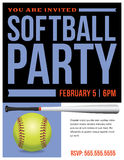 Softball Party Flyer Invitation Illustration Royalty Free Stock Photos