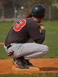 Softball/pausa sulla base Fotografia Stock Libera da Diritti