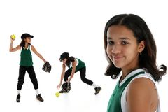 Softball Player Royalty Free Stock Image