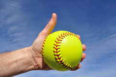 Softball Player Giving Thumbs Up Sign royalty free stock photos