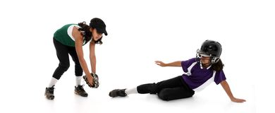 Softball Players Royalty Free Stock Photography