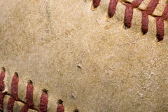 Softball with red stitching Royalty Free Stock Photo
