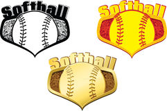 Softball Shields Royalty Free Stock Photo