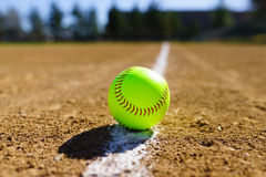 Softball in a softball field in California mountains Stock Photography