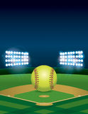 Softball on Softball Field Illustration Royalty Free Stock Photos