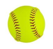 Softball som isoleras på vit bakgrund Arkivfoton