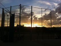 Softball Sunset Royalty Free Stock Photos