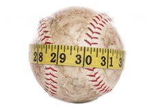 Softball with tape measure Stock Photos