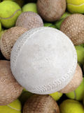Softball with Tennis ball Royalty Free Stock Photos