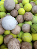 Softball with Tennis ball Royalty Free Stock Photography