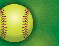 Softball on a Textured Grass Field Illustration Royalty Free Stock Photo