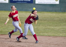 Softball Throw Royalty Free Stock Photo