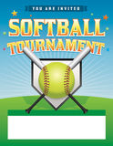 Softball Tournament Illustration Stock Image