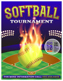Softball-Turnier-Illustration Lizenzfreies Stockbild